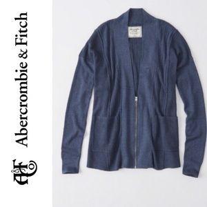 Abercrombie blue classic cardigan
